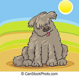 newfoundland dog cartoon illustration