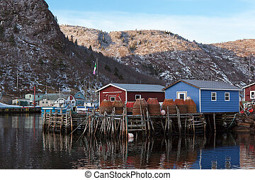 Newfoundland Fishery - Fishing Stages in Newfoundland.