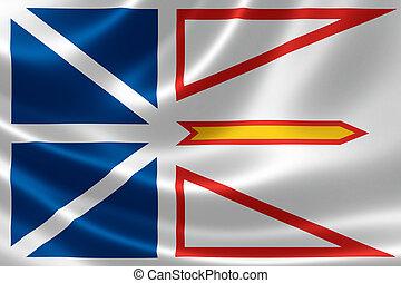 Newfoundland & Labrador Provincial Flag of Canada - 3D ...