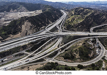 Newhall Pass Aerial Los Angeles County California