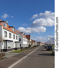 newly build modern detached houses in Borne, Netherlands