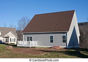 Newly Built House Rear