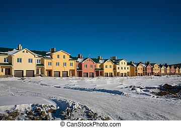 Newly Built Suburban Row Houses