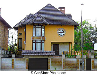 newly constructed house, modern European home
