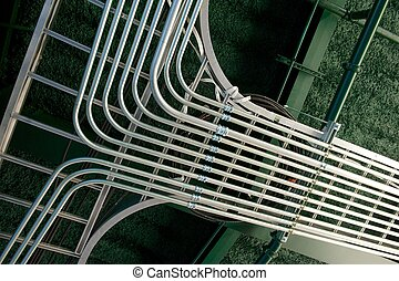 Newly Installed Electrical Conduit Junction - Array of newly...