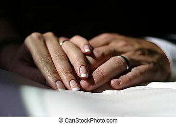 newly-married, paar