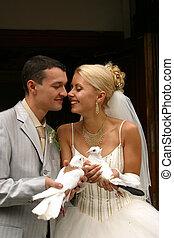 newly-married, pareja