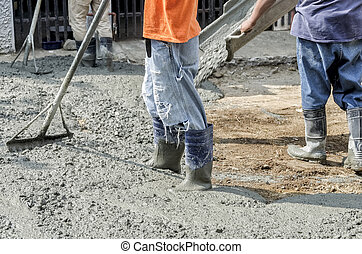 Newly Poured Cement on Road