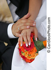 Newlywed Couple Hands