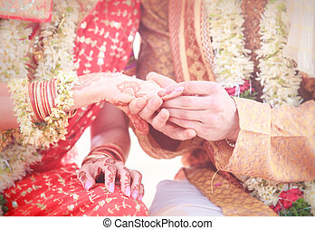 newlywed hands with rings - newlywed hands with mehndi...