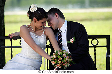 newlywed, párosít, szerelemben