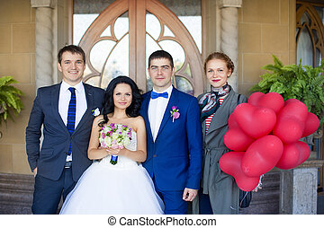 newlyweds, 由于, 朋友