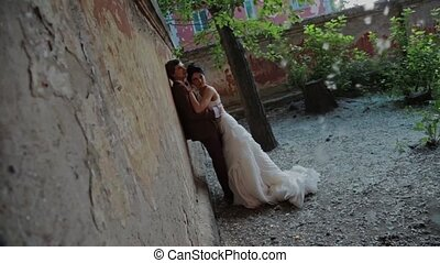 Newlyweds in the old garden