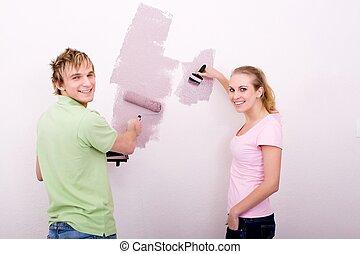 newlyweds painting