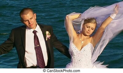 Newlyweds Relax At Sea.