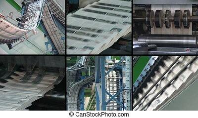 newpapaer print collage