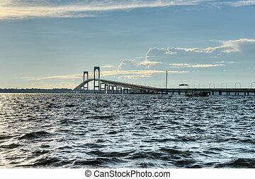 Newport Bridge - Rhode Island - Newport Bridge from near...
