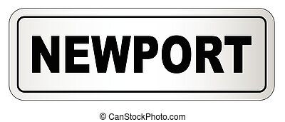 Newport City Nameplate - The city of Newport nameplate on a...