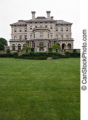 The historic Breakers mansion located in Newport Rhode Island. This famous example of classic architecture was owned by the Vanderbilts during the 1800s.