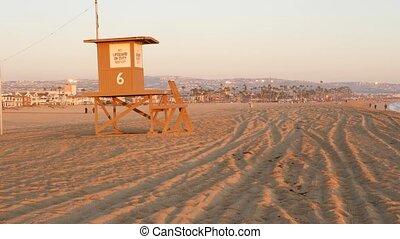 newport, montre, horizon., montagnes, vacances, sablonneux, ...