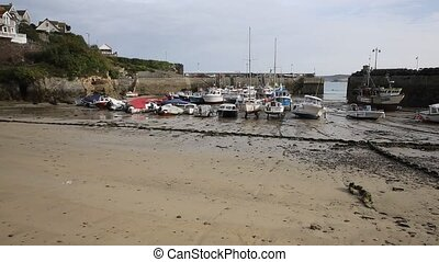Newquay harbour North Cornwall PAN