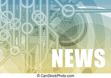 News Abstract - News Tech Abstract Background in Blue Color