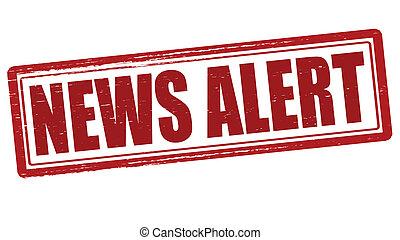 News alert - Stamp with text news alert inside, vector...