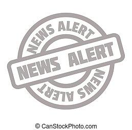 News Alert rubber stamp