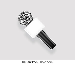 News anchor microphone or mic