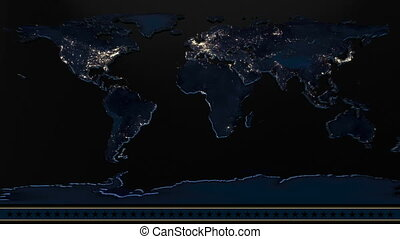 News Backdrop World Map Animation