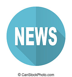 news blue flat icon