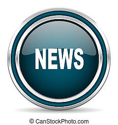 news blue glossy web icon