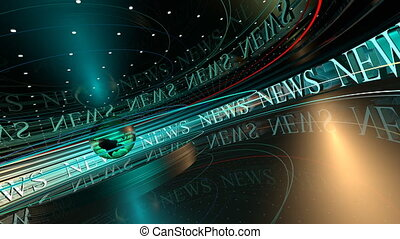 News Broadcast Background - This loopable video with clean...