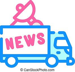 news car truck color icon vector illustration