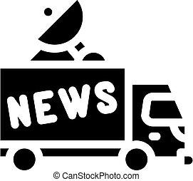 news car truck glyph icon vector illustration