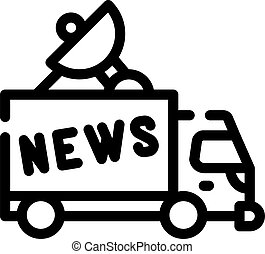 news car truck line icon vector illustration