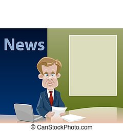 News - Cartoon the teleleader of news