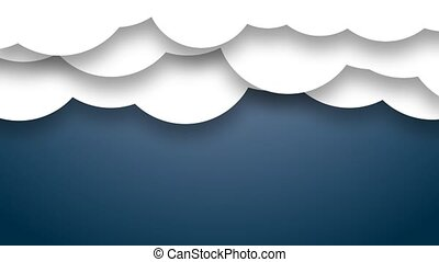 News cloud. Animated clouds. Blue.