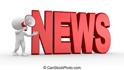 News concept and a megaphone