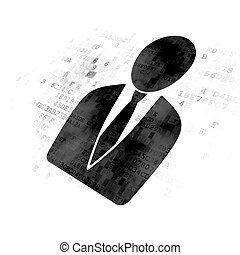 News concept: Business Man on Digital background