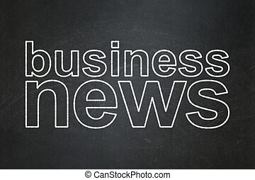 News concept: Business News on chalkboard background