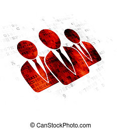 News concept: Business People on Digital background