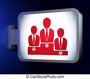 News concept: Business Team on billboard background
