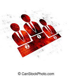 News concept: Business Team on Digital background