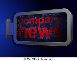 News concept: Company News on billboard background