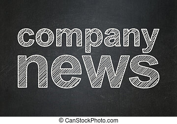 News concept: Company News on chalkboard background