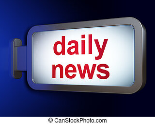 News concept: Daily News on billboard background