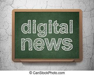 News concept: Digital News on chalkboard background