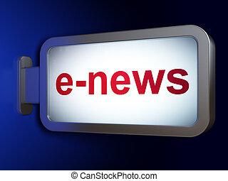 News concept: E-news on billboard background