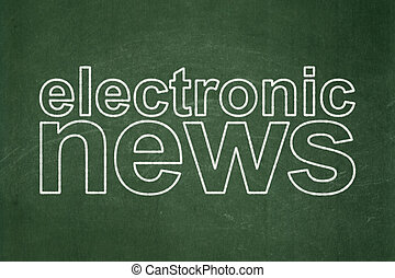 News concept: Electronic News on chalkboard background